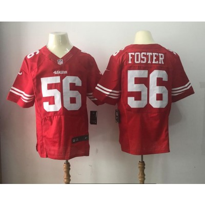 Nike 49ers 56 Reuben Foster 2017 NFL Draft Red Team Color Men NFL Elite Jersey