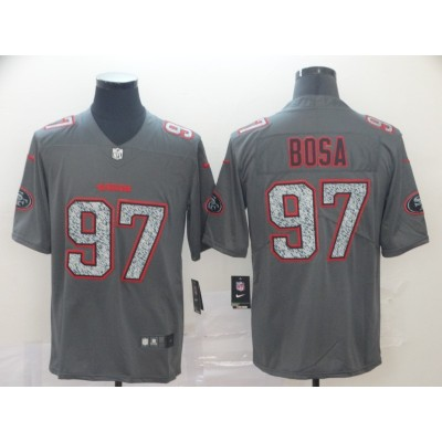 Nike 49ers 97 Nick Bosa Gray Static Vapor Untouchable Limited Men Jersey