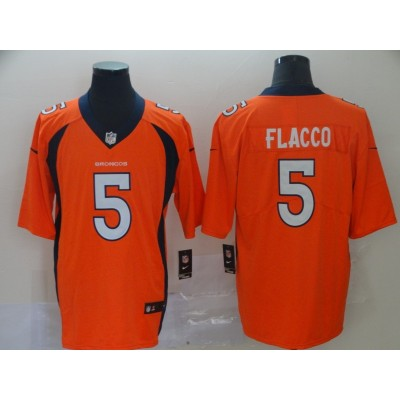 Nike Denver Broncos 5 Joe Flacco Orange Vapor Untouchable Limited Men Jersey
