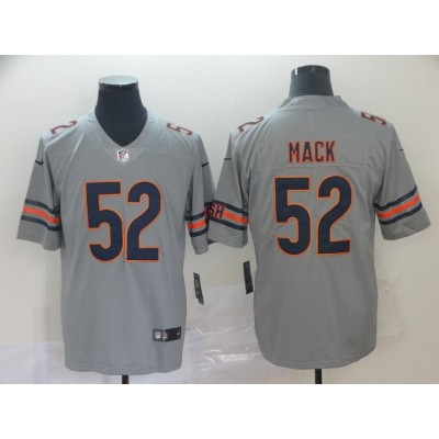 Nike Bears 52 Khalil Mack Gray Inverted Legend Men Jersey