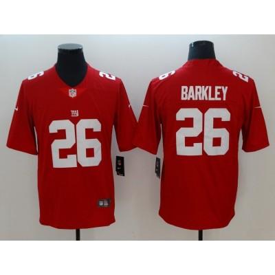 Nike Giants 26 Saquon Barkley Red Inverted Legend Men Jersey