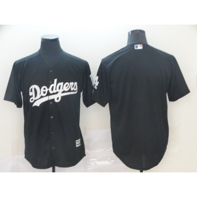 MLB Dodgers Blank Black Turn Back Men Jersey