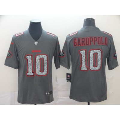 Nike 49ers 10 Jimmy Garoppolo Gray Static Vapor Untouchable Limited Men Jersey