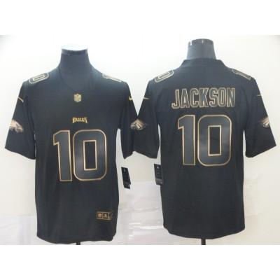 Nike Eagles 10 DeSean Jackson Black Gold Vapor Untouchable Limited Jersey