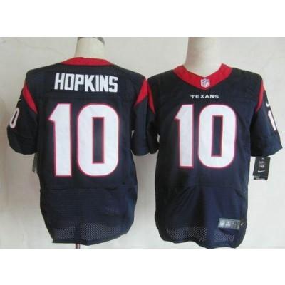 Nike Houston Texans No.10 DeAndre Hopkins Navy Blue Male Elite Jersey