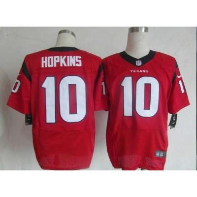 Nike Houston Texans No.10 DeAndre Hopkins Red Alternate Male Elite Football Jersey