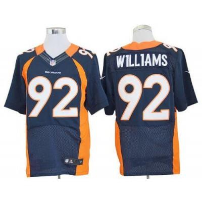 Nike Denver Broncos No.92 Sylvester Williams Navy Blue Alternate Male Stitched Elite Jersey