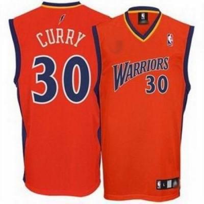NBA Warriors 30 Stephen Curry Orange Men Jersey