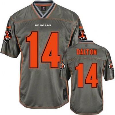 Nike Bengals #14 Andy Dalton Grey Kid Stitched NFL Elite Vapor Jersey