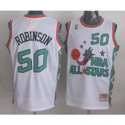 NBA Spurs 50 David Robinson White 1996 All Star Throwback Mitchell And Ness Men Jersey
