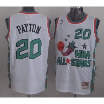 NBA Supersonics 20 Gary Payton White 1996 All Star Throwback Mitchell And Ness Men Jersey