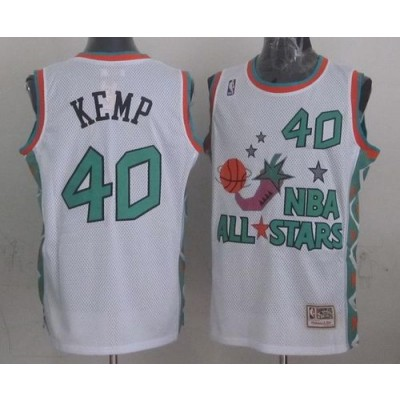 NBA Supersonics 40 Shawn Kemp White 1996 All Star Throwback Mitchell And Ness Men Jersey