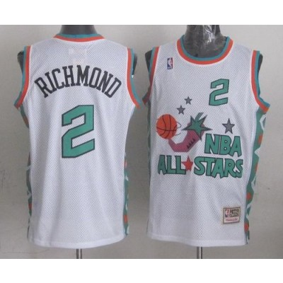 NBA Kings 2 Mitch Richmond White 1996 All Star Throwback Mitchell And Ness Men Jersey
