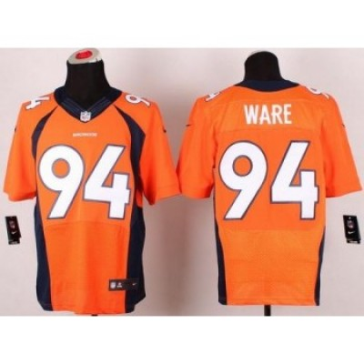 Nike Denver Broncos No.94 DeMarcus Ware Orange Male NFL Stitched Elite Jersey