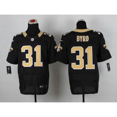 Nike New Orleans Saints No.31 Jairus Byrd Black Stitched Elite Jersey