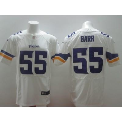 Minnesota Vikings No.55 Anthony Barr White Men's Football Elite Jersey