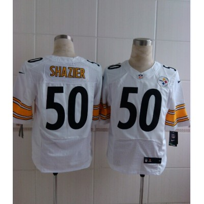 Pittsburgh Steelers No.50 Ryan Shazier White Men's Football Elite Jersey