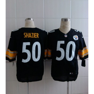 Pittsburgh Steelers No.50 Ryan Shazier Black Men's Football Elite Jersey