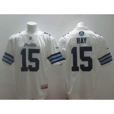Toronto Argonauts No.15 Ricky Ray White Men's Football Jersey