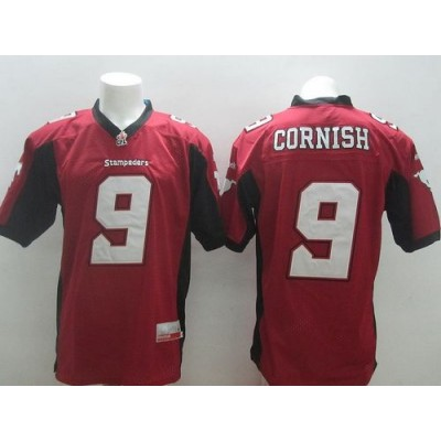 Calgary Stampeders No.9 Jon Cornish Red Men's Football Jersey