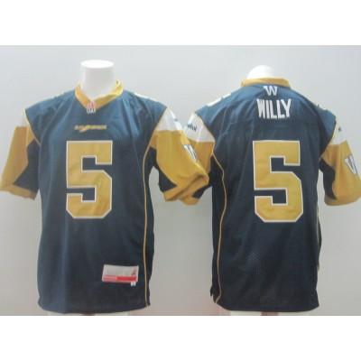 Winnipeg Blue Bombers No.5 Willy Blue Men's Football Jersey