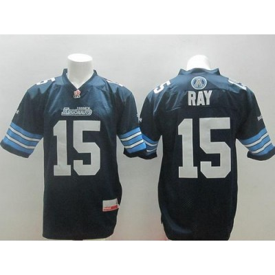 Toronto Argonauts No.15 Ricky Ray Navy Blue Men's Football Jersey