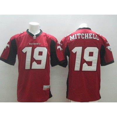 Calgary Stampeders No.19 Bo Levi Mitchell Red Men's Football Jersey