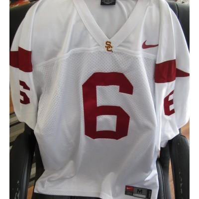 NCAA USC Trojans 6 Cody Kessler White Men Jersey