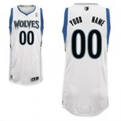 Minnesota Timberwolves White Custom Basketball Jersey