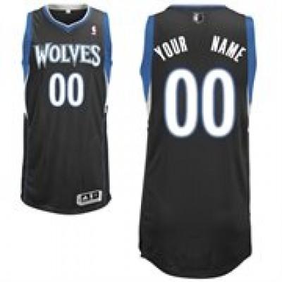Minnesota Timberwolves Black Custom Basketball Jersey