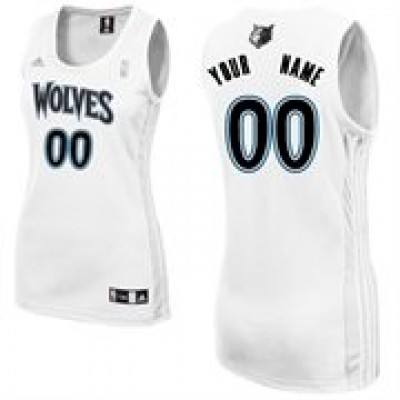 Minnesota Timberwolves Personalized White Women's Basketball Jersey