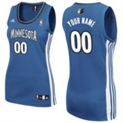 Minnesota Timberwolves Personalized Light Blue Women's Basketball Jersey
