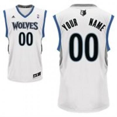 Minnesota Timberwolves Personalized White Basketball Jersey