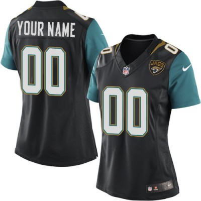 Nike Jacksonville Jaguars Personalized Black Women's Football Elite Jersey