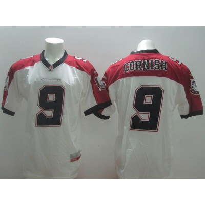 Calgary Stampeders No.9 Jon Cornish White Men's Football Jersey