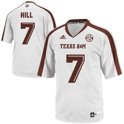 NCAA Texas A&M Aggies 7 Kenny Hill White Men Football Jersey