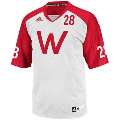 NCAA Wisconsin Badgers 28 Taiwan Deal White Men Jersey