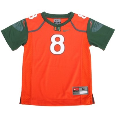 NCAA Miami Hurricanes 8 Duke Johnson Orange Men Jersey