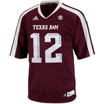 NCAA Texas A&M Aggies 12 Sam Moeller Red Men Jersey