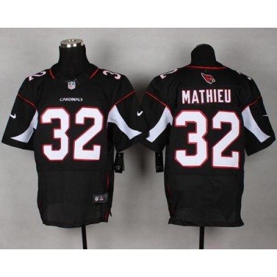 Nike Cardinals 32 Tyrann Mathieu Black Alternate NFL Elite Jersey