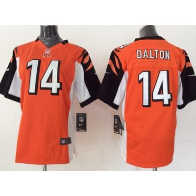 Nike Bengals 14 Andy Dalton Orange Alternate Youth Stitched NFL Elite Jersey