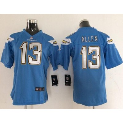 Nike Chargers 13 Keenan Allen Electric Blue Alternate Youth Stitched NFL New Elite Jersey
