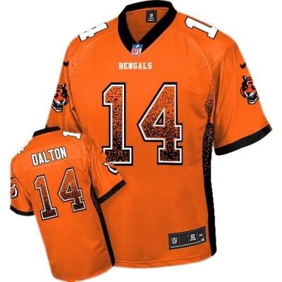 Nike Bengals 14 Andy Dalton Orange Alternate Youth Stitched NFL Elite Drift Fashion Jersey