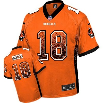 Nike Bengals 18 A.J. Green Orange Alternate Youth Stitched NFL Elite Drift Fashion Jersey