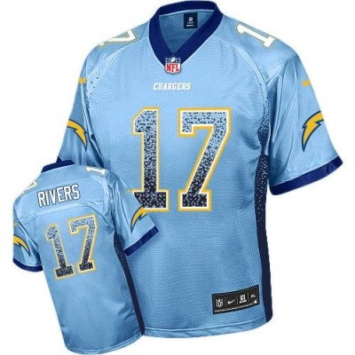 Nike Chargers 17 Philip Rivers Electric Blue Alternate Youth Stitched NFL Elite Drift Fashion Jersey