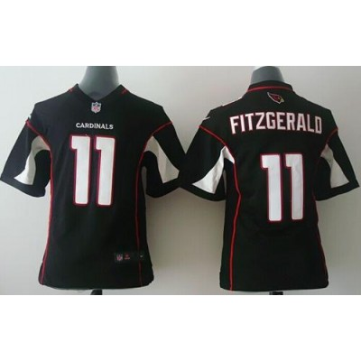 Nike Cardinals 11 Larry Fitzgerald Black Alternate Youth Stitched NFL Elite Jersey