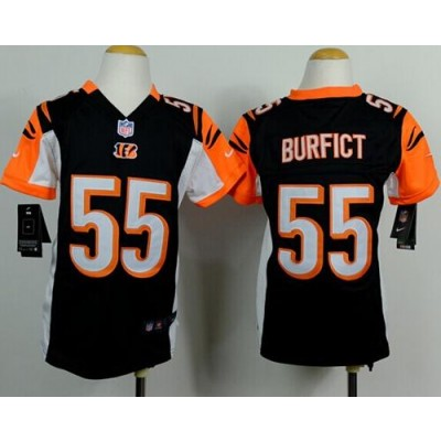 Nike Bengals 55 Vontaze Burfict Black Team Color Youth Stitched NFL Elite Jersey
