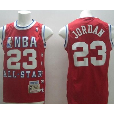 NBA Bulls 23 Michael Jordan 1989 All Star Red Mitchell And Ness Men Jersey