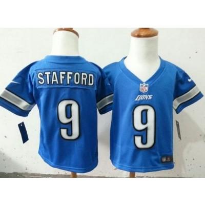 Toddler Nike Lions 9 Matthew Stafford Blue Stitched NFL Elite Jersey