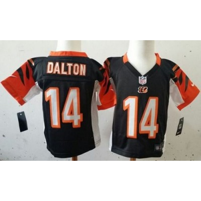 Toddler Nike Bengals 14 Andy Dalton Black Team Color Stitched NFL Elite Jersey